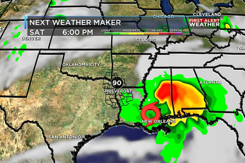 Rain chances will be low over the weekend
