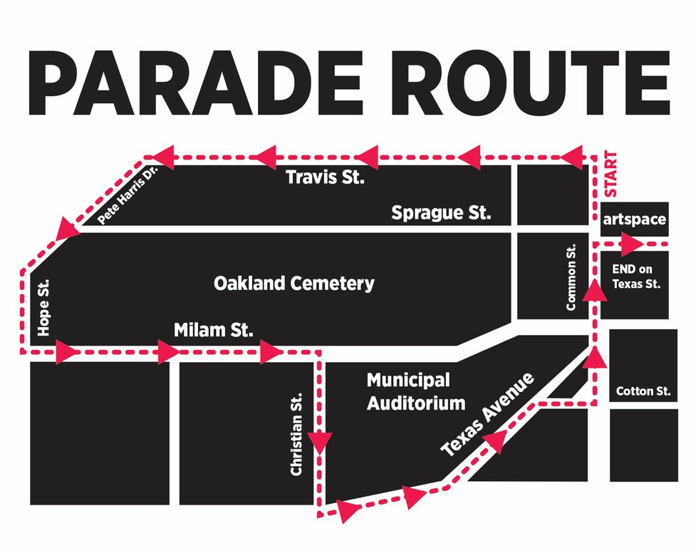 Louisiana Trail Riders will parade through downtown Shreveport beginning at artspace at 708...