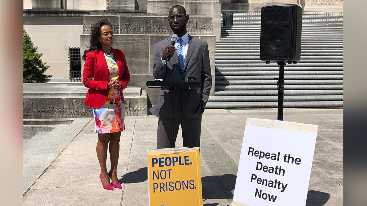 ACLU Louisiana Director Alanah Hebert and exonerated death row inmate, Shareef Cousin (Source:...