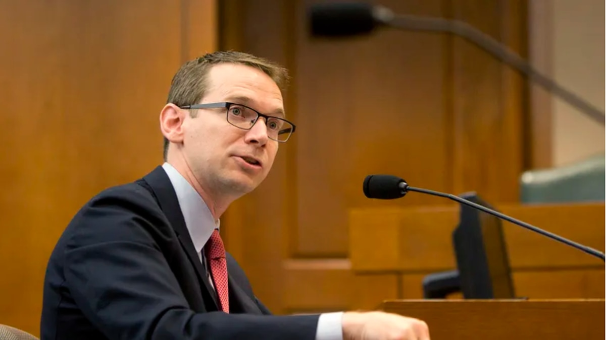 Texas Education Commissioner Mike Morath spoke to lawmakers and school superintendents in...