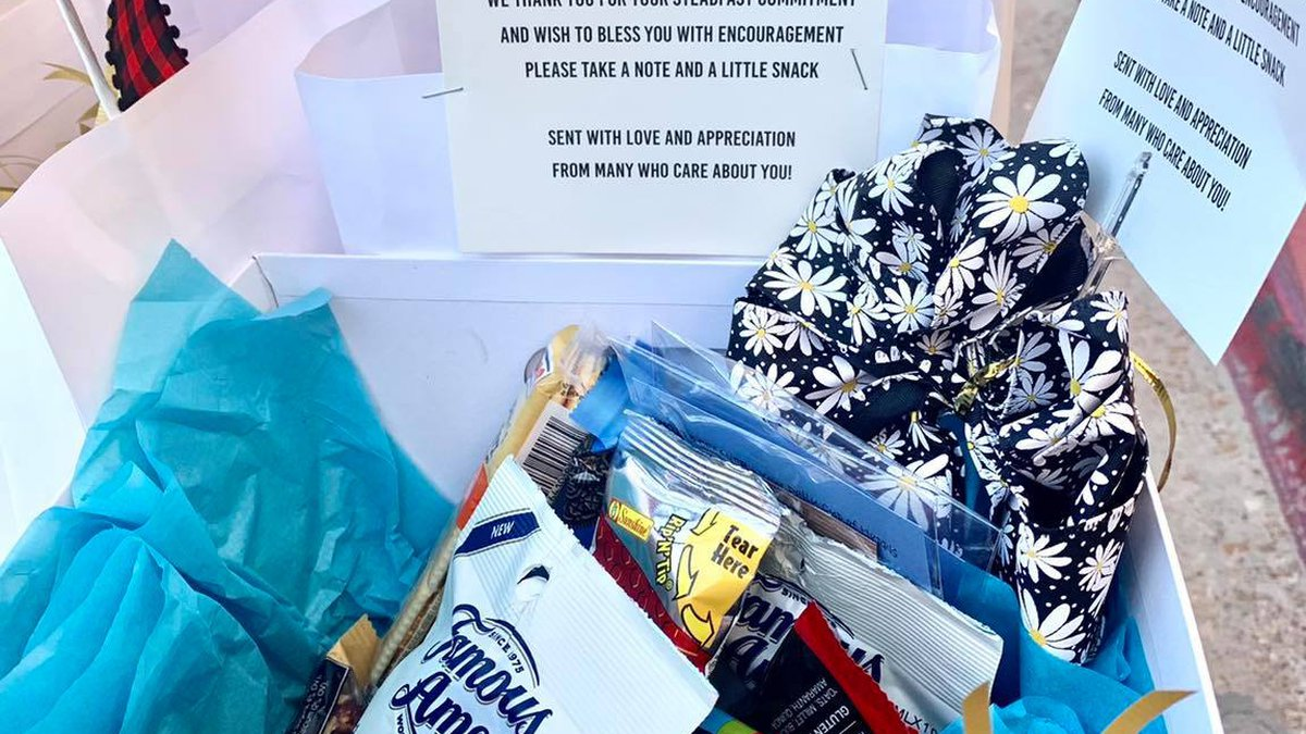 """A former employee at LSU Health Shreveport is giving fellow healthcare workers """"blessing boxes""""..."""