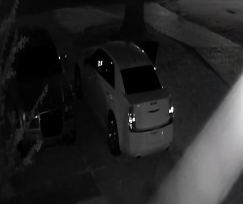 Police say the wanted men were driving this vehicle during the alleged home invasion.