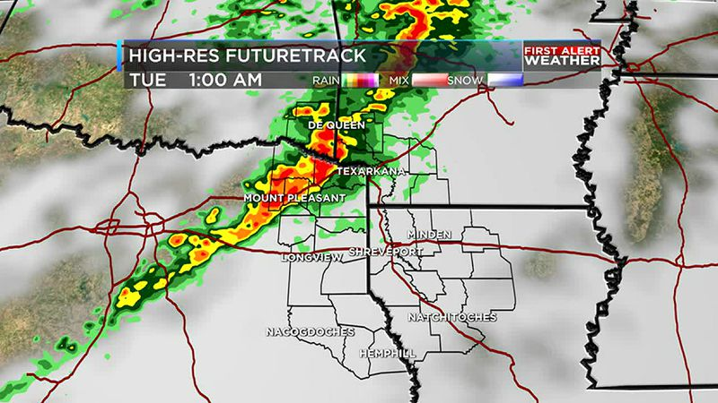 Rain and storms are back Monday evening