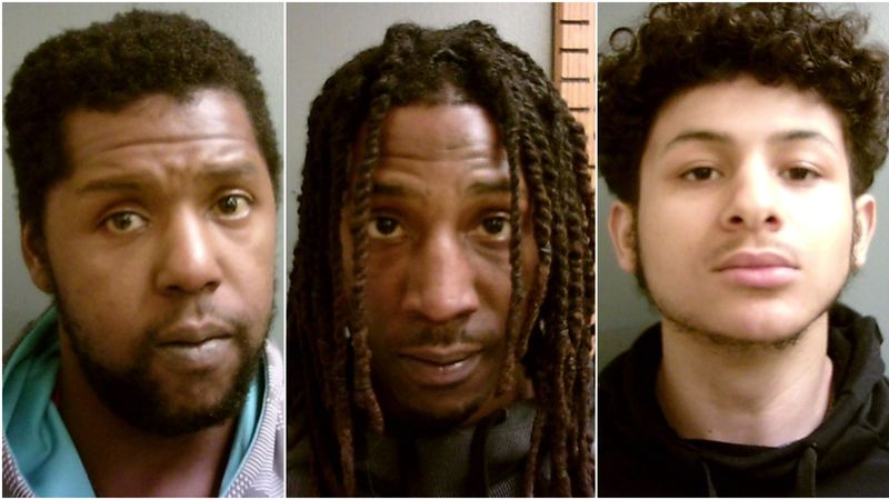 BOOKED: Dereginald Lynnazzal King (left to right), 30, of Zwolle, Aaron Jawaun Holmes, 25, of...