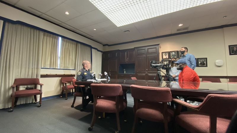 Shreveport Police Chief Ben Raymond spoke Tuesday, March 23, 2021 about a violent couple of...