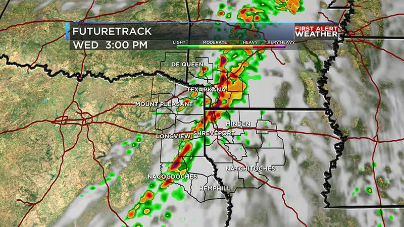 Cold front brings the possibility of strong to severe storms Wednesday afternoon.