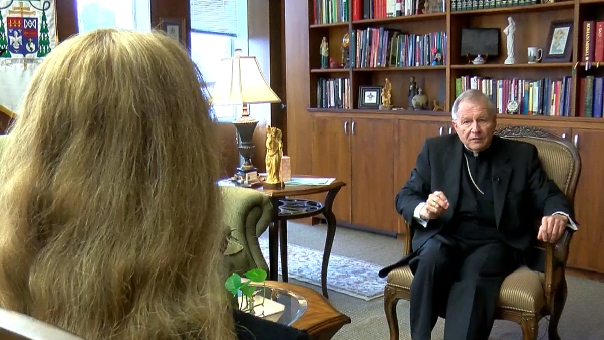 Archbishop Gregory Aymond says church is considering releasing names of abusers.