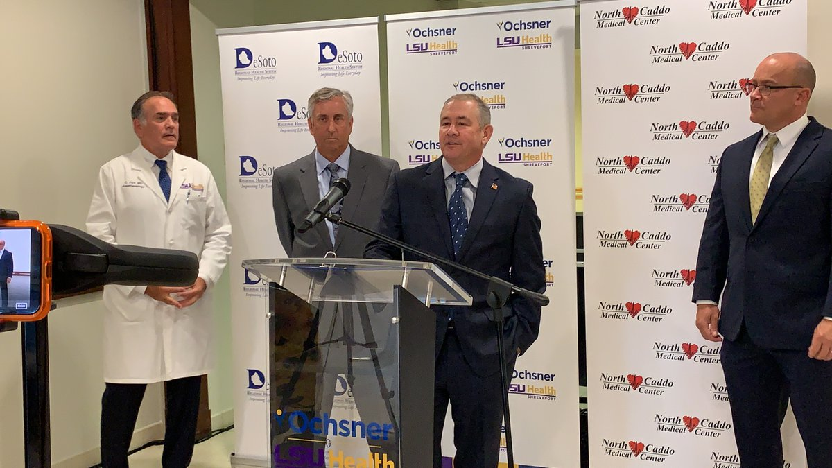 From left: David Jones, Chief Executive Officer of North Caddo Medical Center speaks along with...