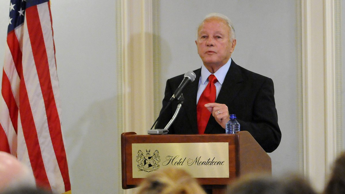 Former Governor Edwin Edwards addresses the media at a press conference before a birthday...