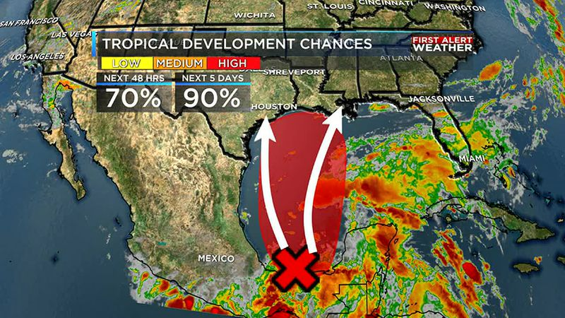 We are watching what will likely be Claudette to develop in the Gulf of Mexico later this week.