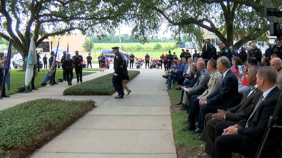 A number of law enforcement agencies gathered Wednesday, Oct. 13, 2021 to honor fellow officers...