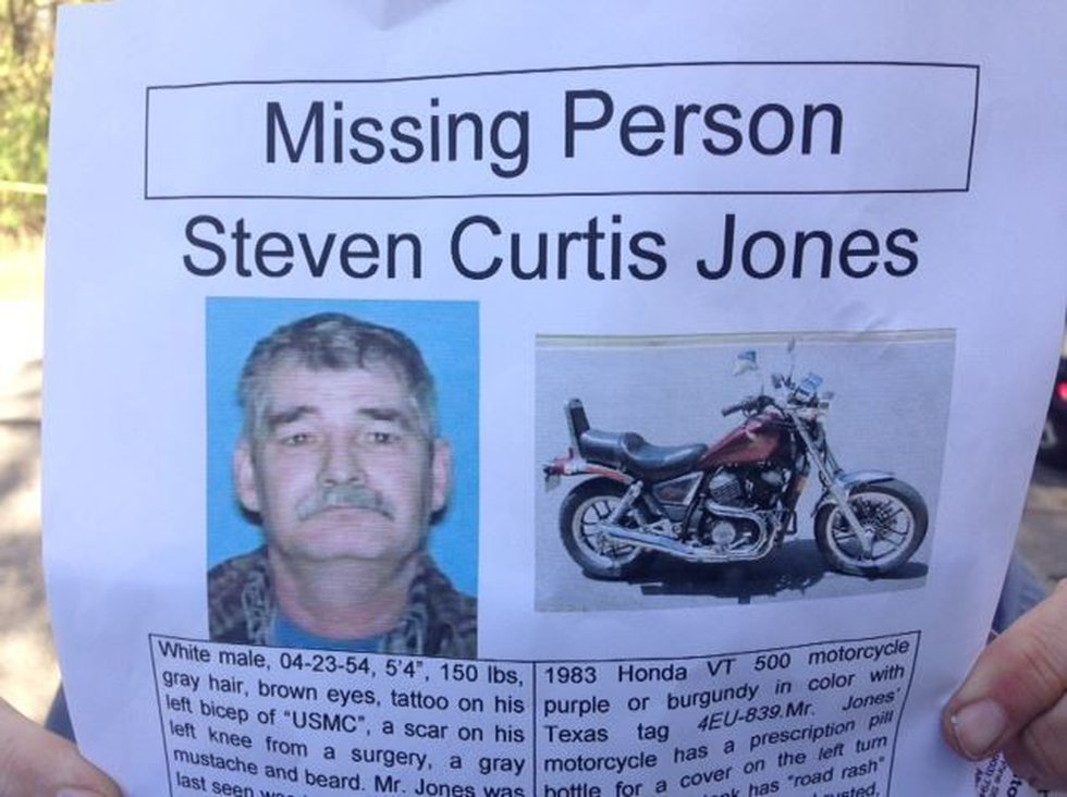 Steven Curtis Jones' wife reported him missing after he left his Liberty-Eylau home on the...