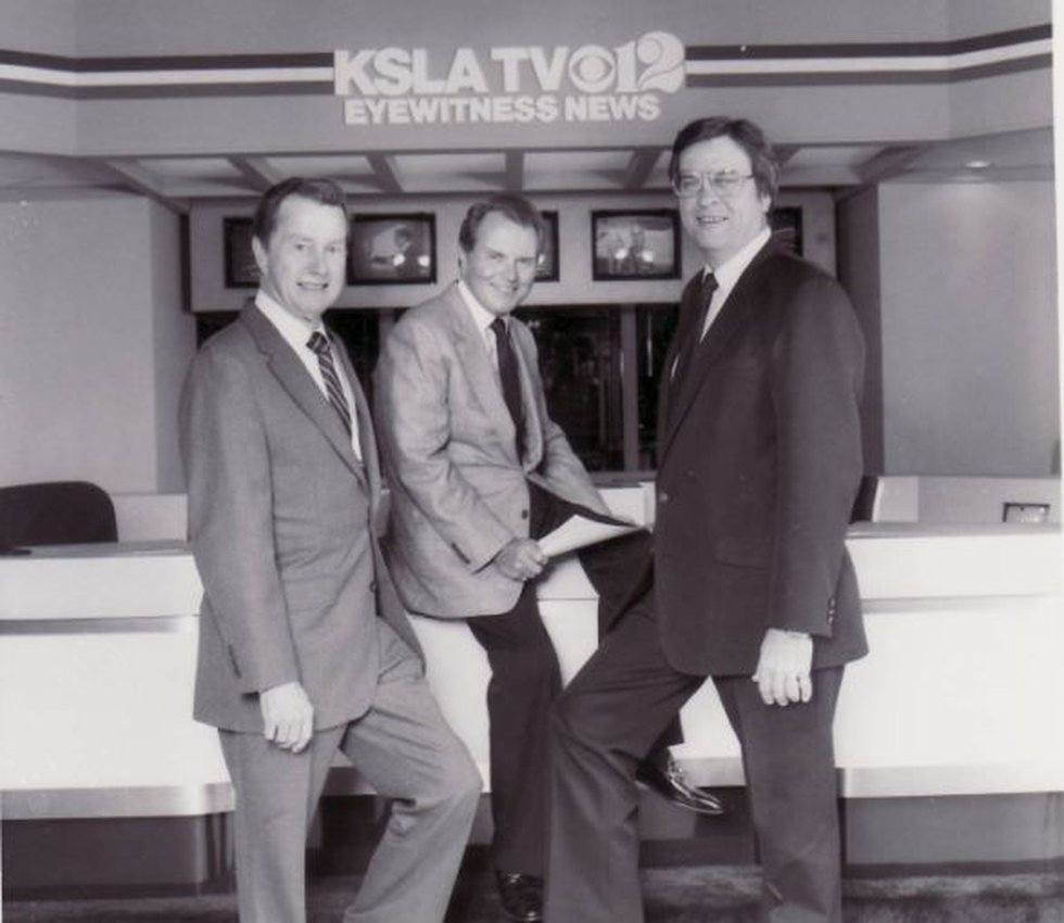 (L-R) Weatherman Al Bolton, Anchor Don Owen and Sports Anchor Bob Griffin (From the KSLA News...