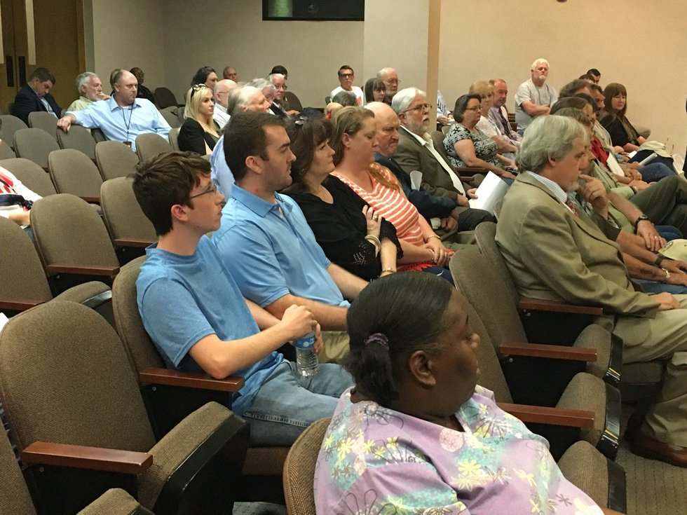 More than a dozen parish residents registered to speak on the Confederate monument. (Source:...