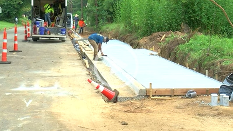 Sidewalk and trail project in Marshall