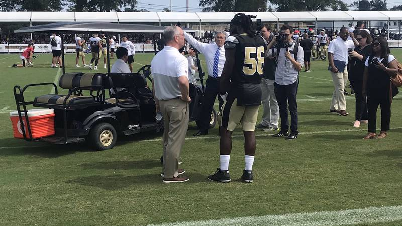 Gov. John Bel Edwards announced Superdome upgrades and a possible new deal to keep the Saints...