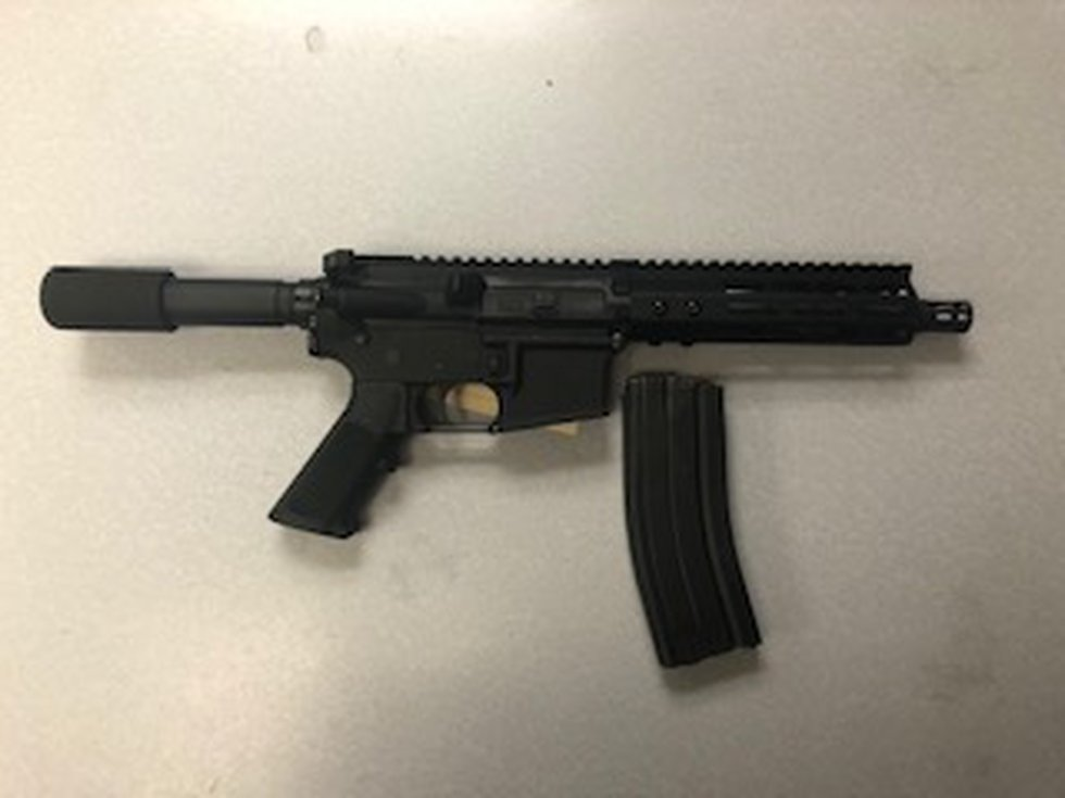 Recovered assault-style firearm