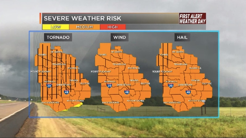 We are tracking all types of severe weather hazards on Wednesday.