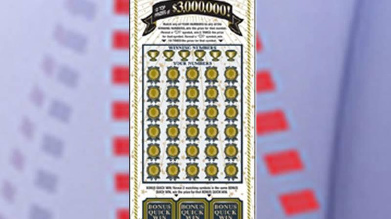 A  Longview resident won $3 million on a Winner's Circle scratch ticket. (Source: Texas Lottery...