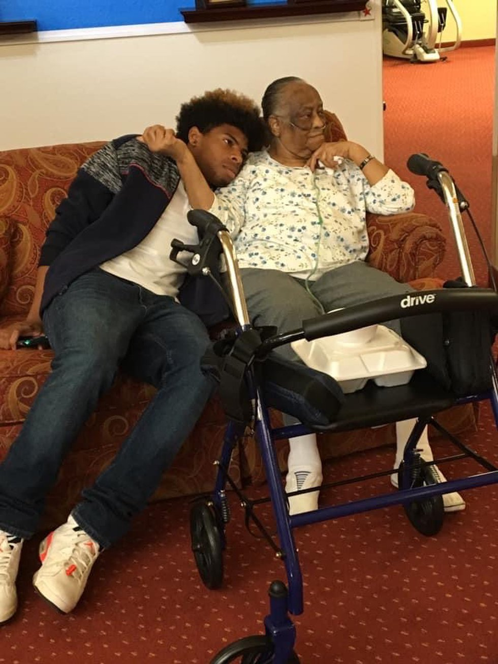 Mathew Brothers and his great grandmother who passed away earlier in 2020.
