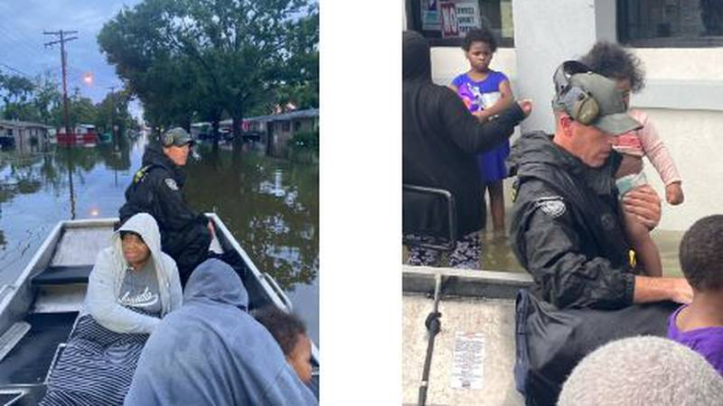 Louisiana Department of Wildlife and Fisheries enforcement agents rescued 110 people Monday...