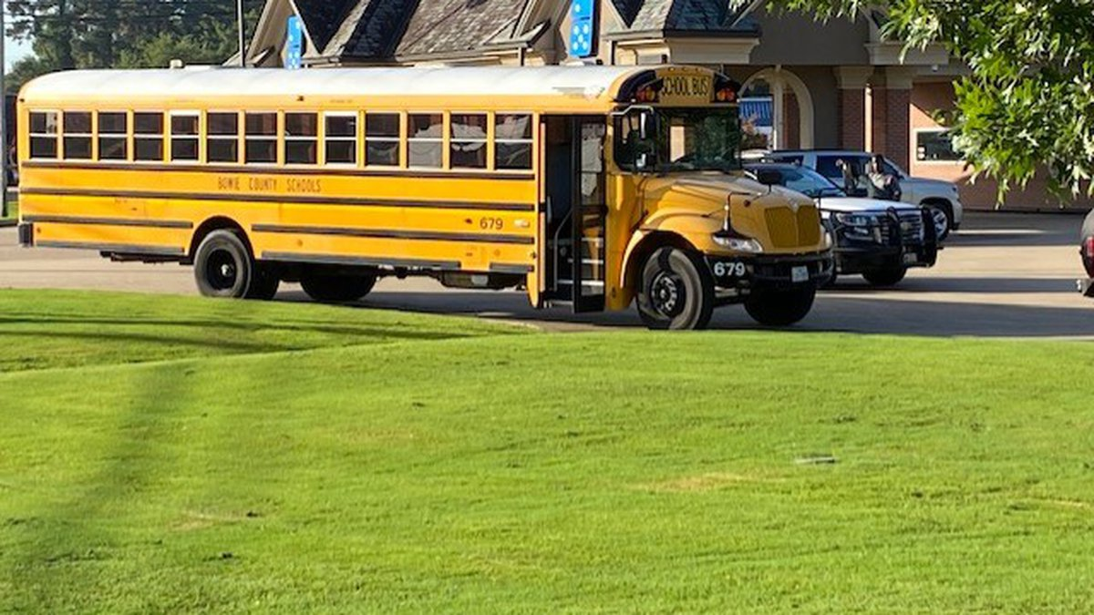 Two students were on the bus at the time of the incident. One student went home following the...