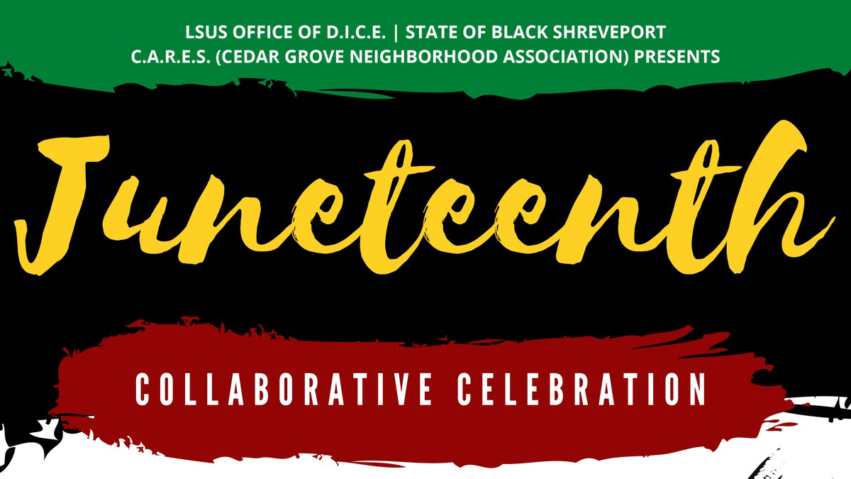 LSUS's Office of Diversity, Inclusion, and Community Engagement (DICE) is hosting a Juneteenth...