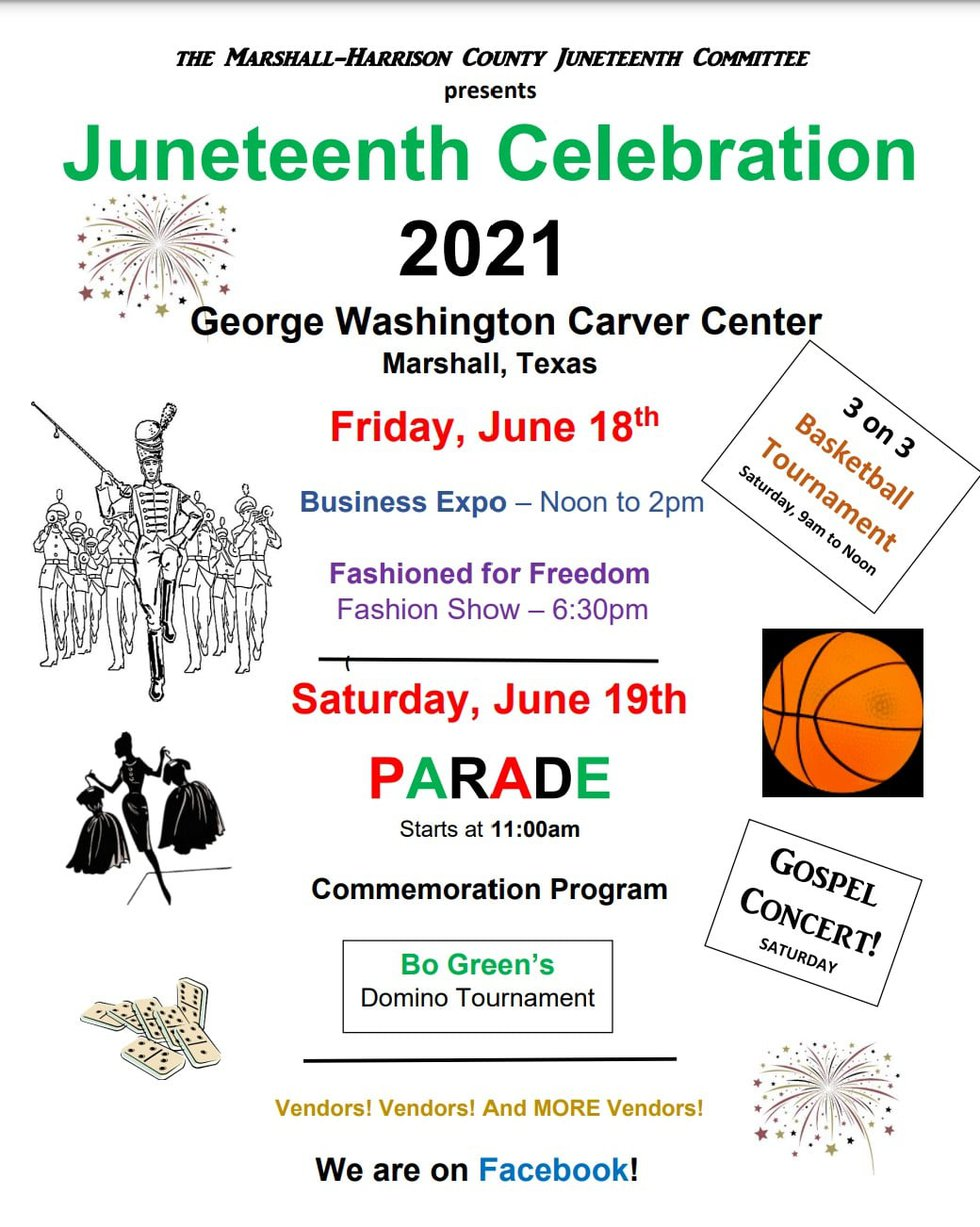 The Marshall-Harrison County Juneteenth Committee is holding a number of events Friday, June 18...