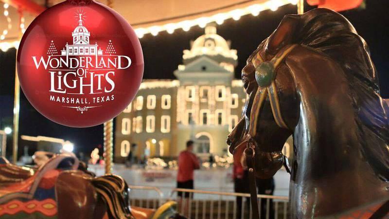 Wonderland of Lights is a popular Christmas festival held annually in Marshall, Texas.