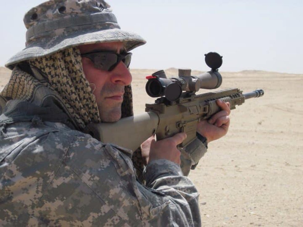 Michael Iman, 43, was actively deployed twice — to Iraq and Afghanistan.