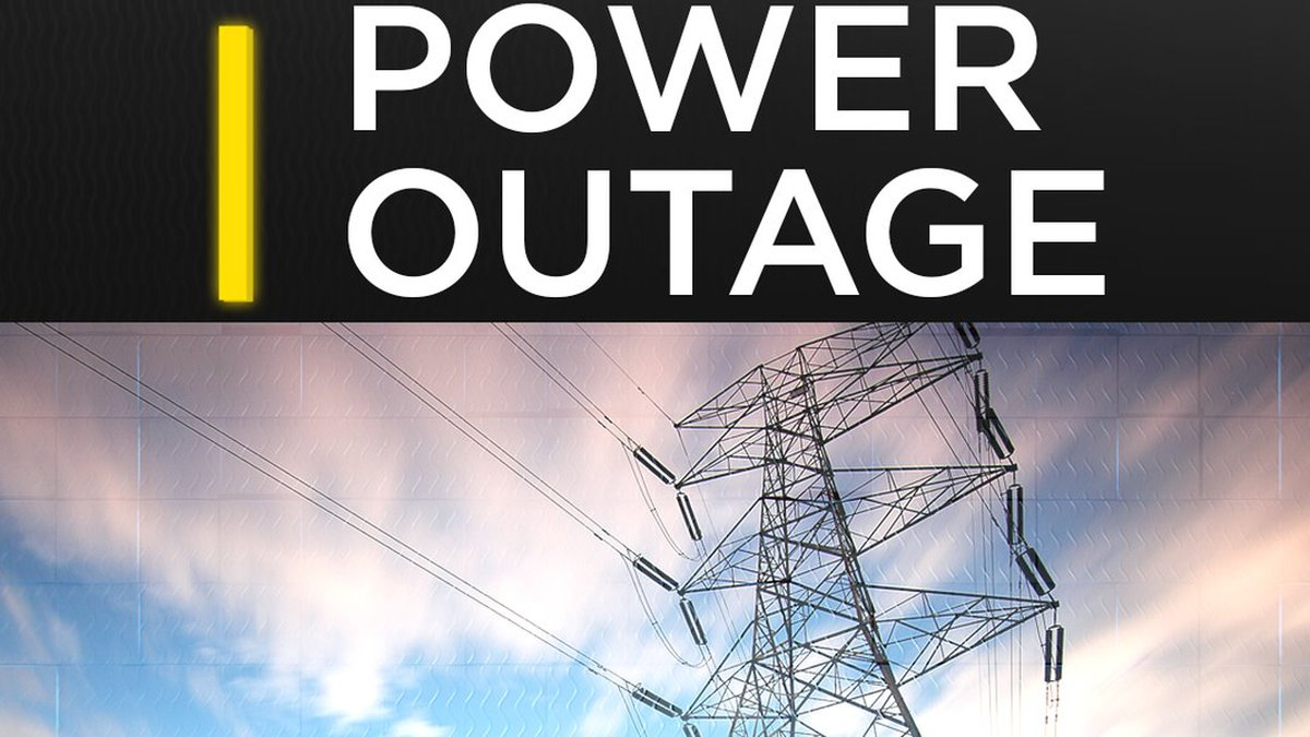 Power is out in some areas.