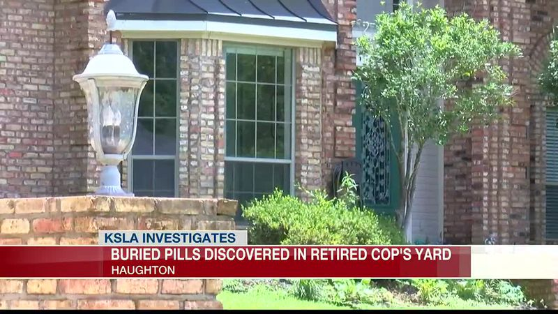 BIZARRE DISCOVERY: About 50 pill bottles found buried in backyard where retired SPD sergeant...