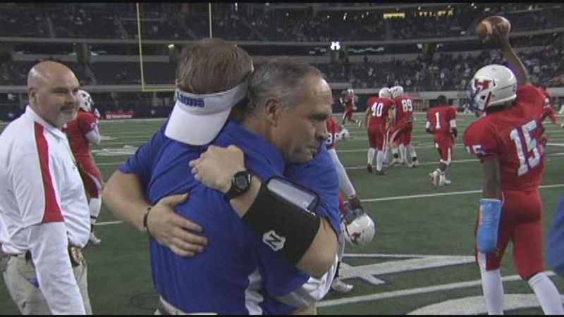 Dickey Meeks after leading Henderson to a state title in 2010 (Source: KLTV)