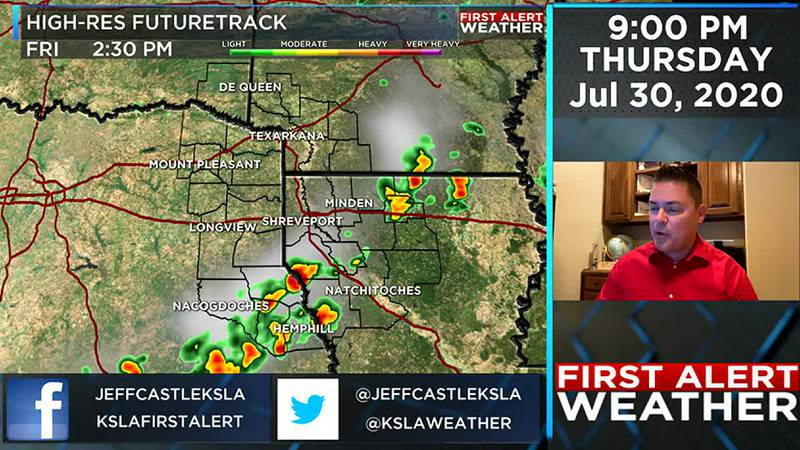 Jeff's Thursday evening weather update
