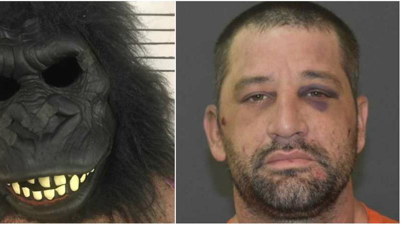 Moran was arrested for allegedly breaking into a home while wearing a gorilla suit