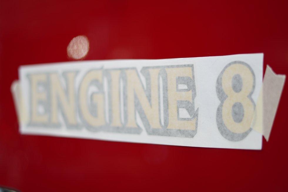 Engine 8 of the new firetrucks of the Shreveport Fire Department