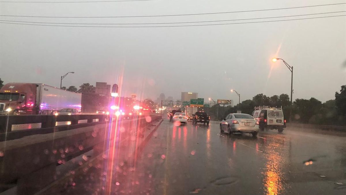 Aminor crash with injuries was reported on I-20 eastbound at the Spring Street exit in...
