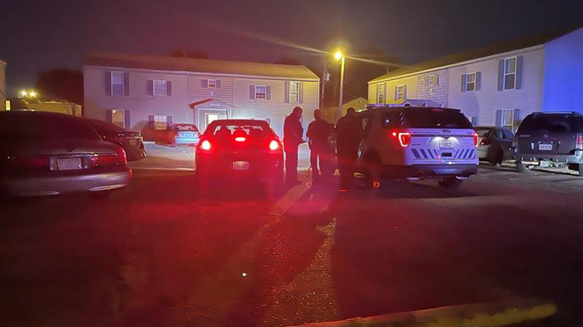 One woman injured after a shooting at Woodlawn Terrace apartments.