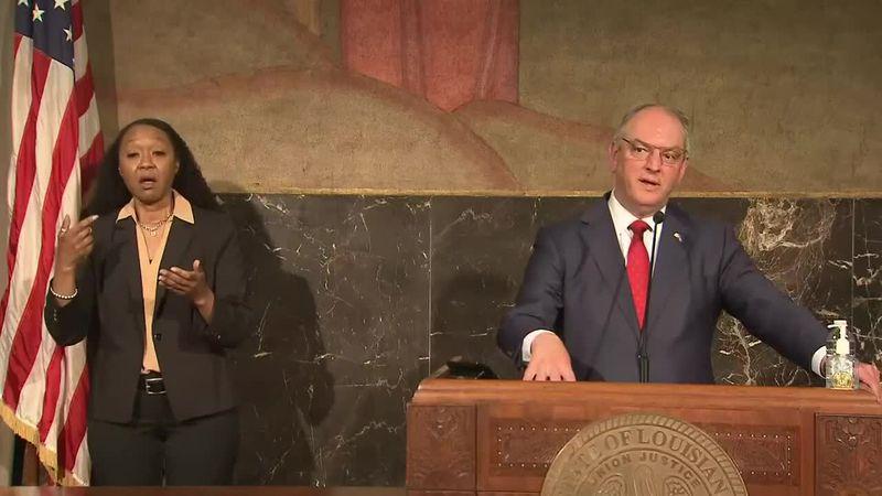 Gov. John Bel Edwards speaks after Legislator adjourns