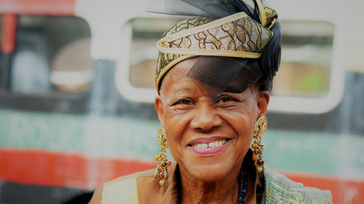Sadie Roberts-Joseph outside the Odell S. Williams Museum of African American History (April...
