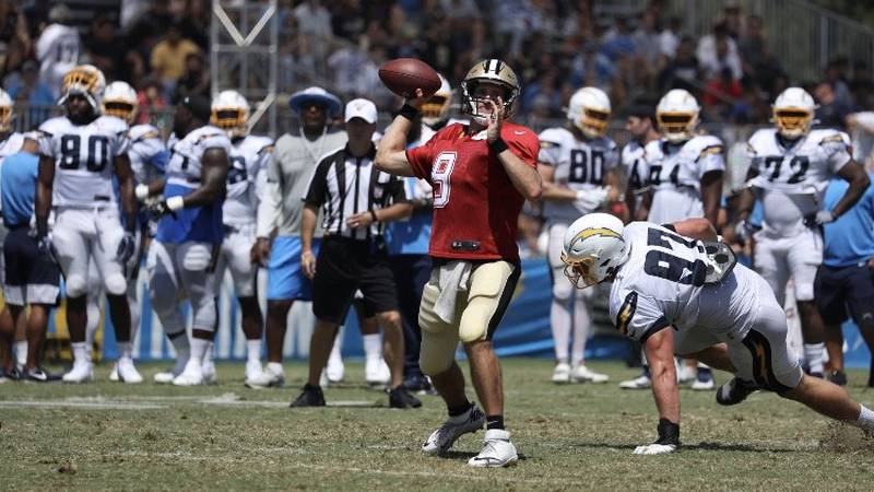 Drew Brees should see some playing time Sunday against the Chargers. (Source: New Orleans Saints)