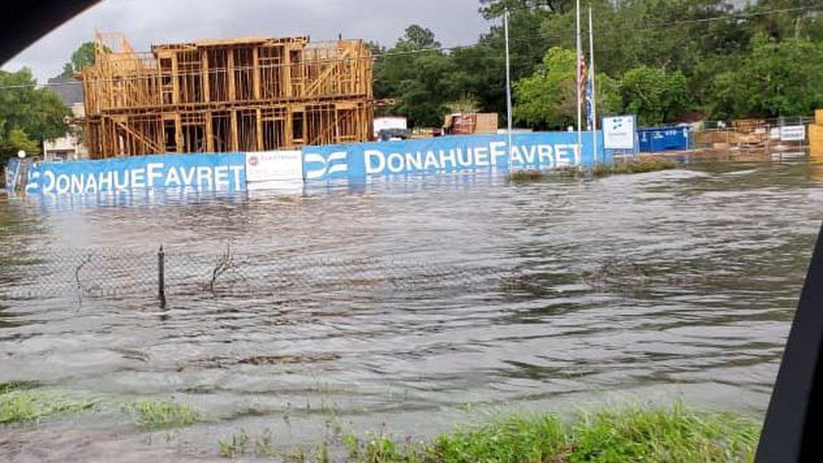 More than 8 inches of rain has caused street flooding across western St. Tammany Parish.