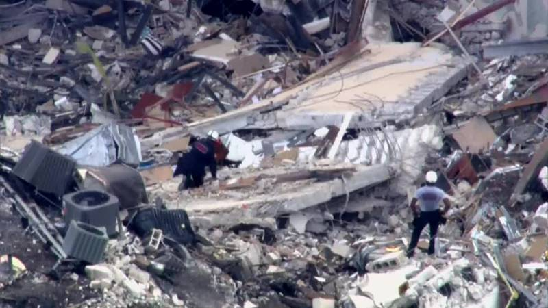 The search for survivors begins its second day in South Florida.