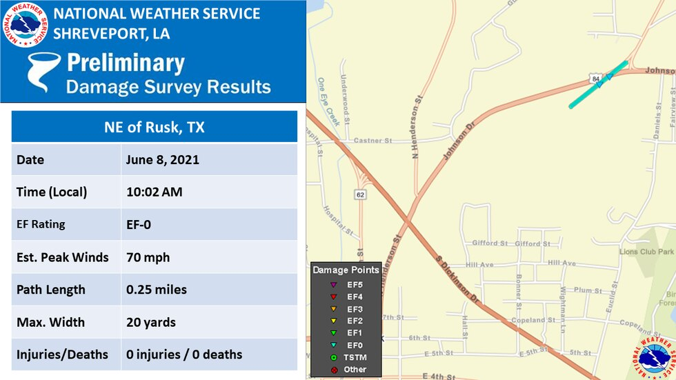 EF-0 in Cherokee County (Source: NWS)