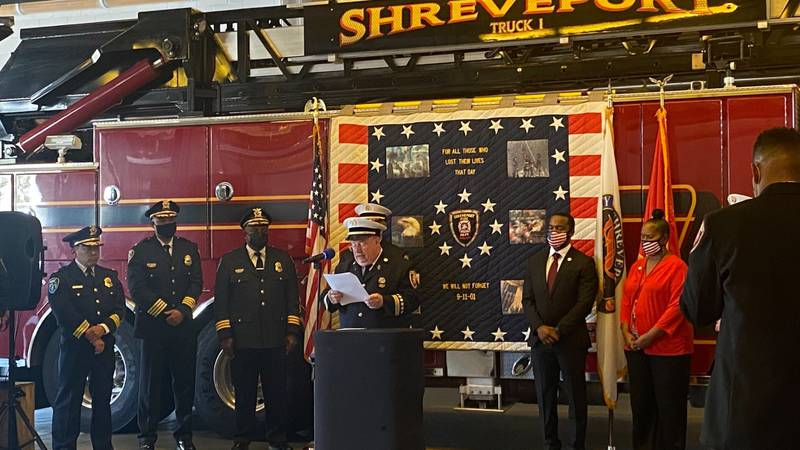 Shreveport Fire Department holds memorial for 9/11.
