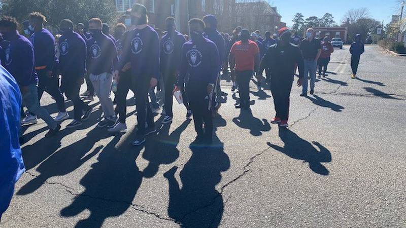 The City of Natchitoches put on the March for Justice and Peace to honor Dr. Martin Luther King...