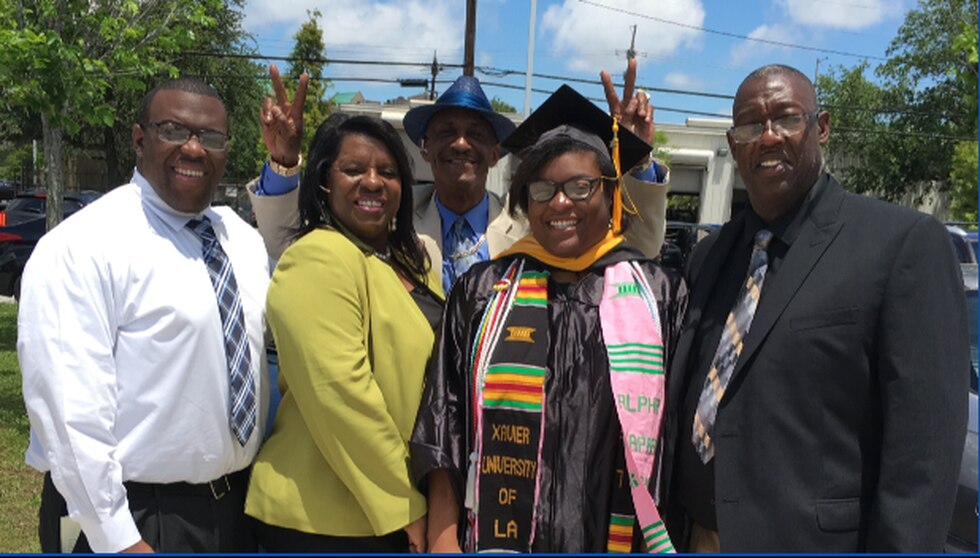 Bruce Williams and his family at his daughter's graduation.