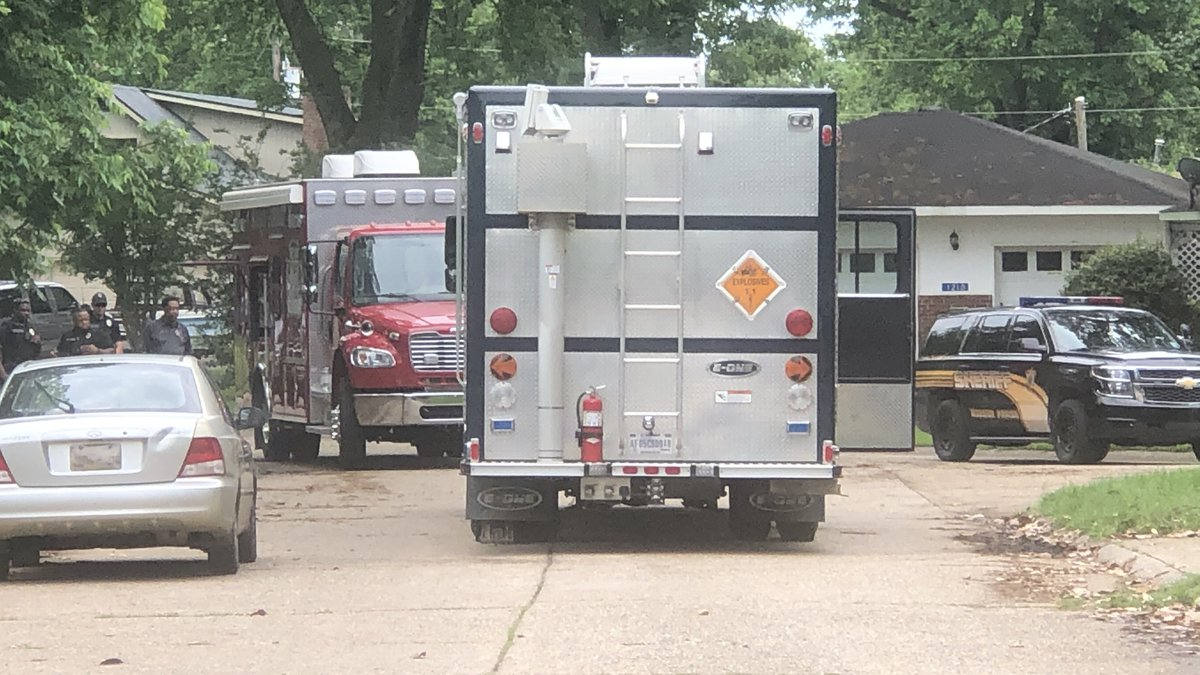 Image from the scene in Bossier.