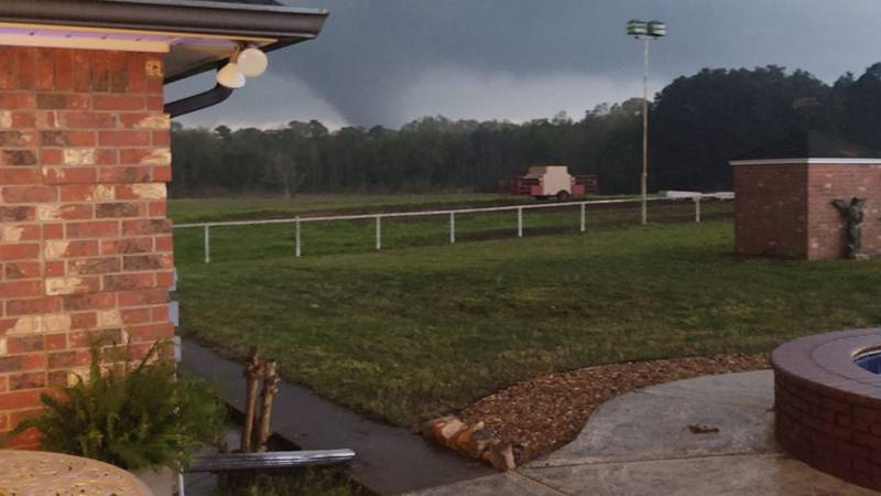Mark Davis snapped this picture of a funnel cloud on FM 699 near FM 2517 in Panola County...