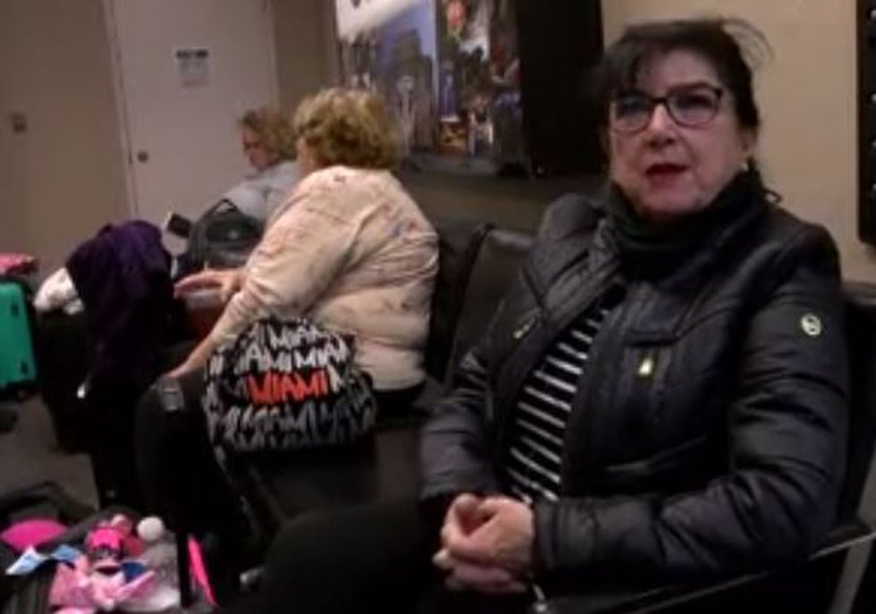 """""""It is just the way it worked out,"""" Maureen Pressner said while waiting for her flight Tuesday..."""